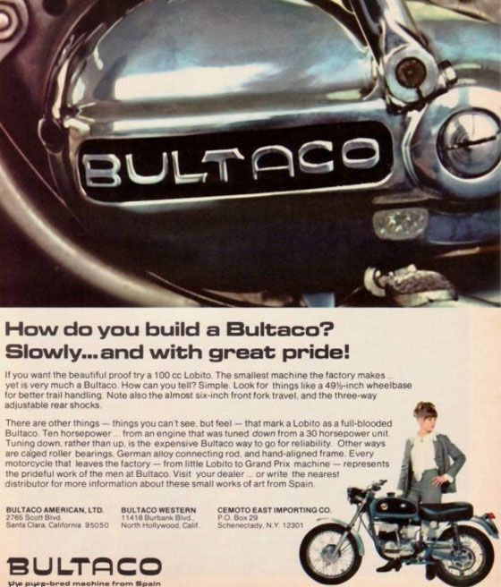 Bultaco. The pure-bred machine from Spain.