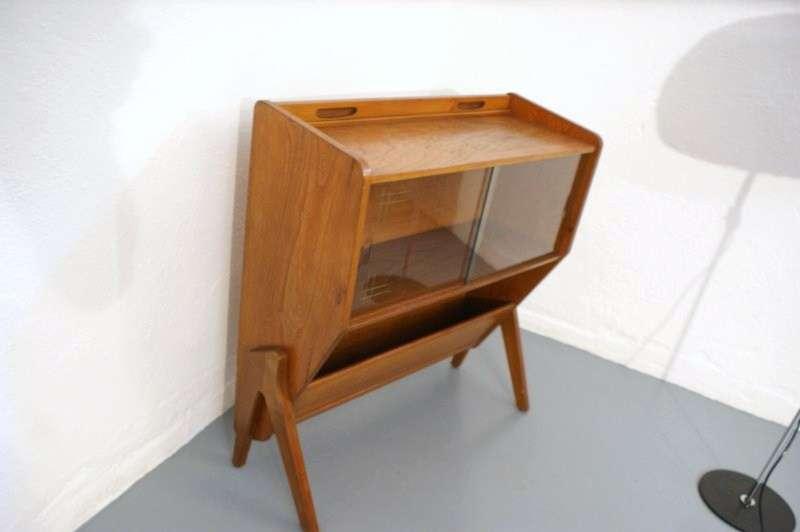 50er 60er glasvitrinen kommode umwandelbar in schreibtisch for Schreibtisch 60er