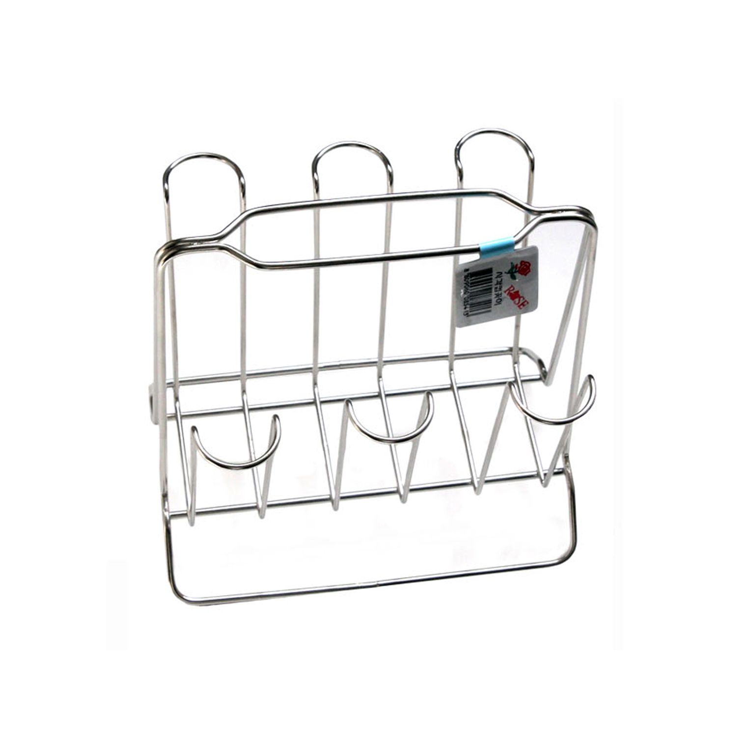 New chrome cup stand for 6 mug tea coffee cup holder for Kitchen design 9x7