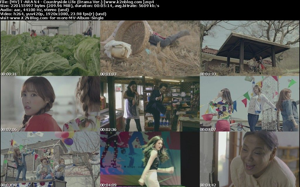 [MV] T-ARA N4 - Countryside Life (Drama Ver.) [HD 1080p Youtube]